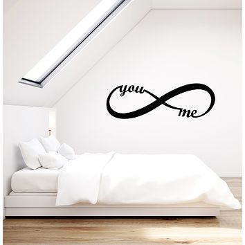 Vinyl Wall Decal Infinity Symbol You and Me Love Romantic Decor Stickers (3773ig)