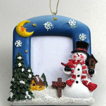 Snowman Ornaments Picture Frame