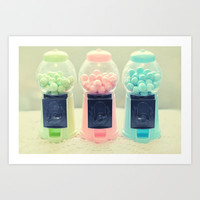 Bubble Gum Art Print by Lisa Argyropoulos
