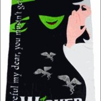 WICKED the Broadway Musical - Logo Beach Towel
