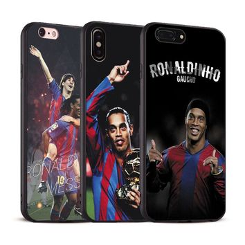 Ronaldinho Coque Cool Soft Silicone Phone Case Cover Shell For Apple iPhone 5 5s Se 6 6s 7 8 Plus X XR XS MAX