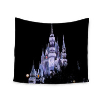 "Philip Brown ""Frozen Castle"" Purple Photography Wall Tapestry"