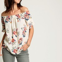 Alexis Floral Off-Shoulder Blouse