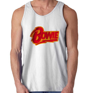 david bowie Red For Mens Tank Top Fast Shipping For USA special christmas ***