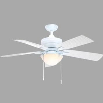 Hampton Bay Four Winds 54 in. Indoor/Outdoor White Ceiling Fan AC457-WH at The Home Depot - Mobile