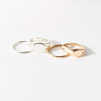 Signet Ring Pack - Urban Outfitters