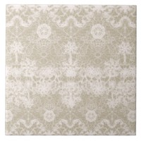 elegant, noble white lace pattern tile