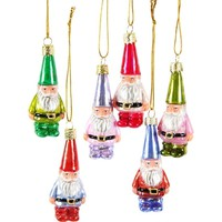 Miniture Gnome Ornament Set (Set of 6)