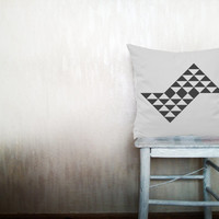Geometric pillows decorative throw pillows gray triangle pillows chevron throw pillows Christmas pillows arrow pillows 12x18 inches pillows