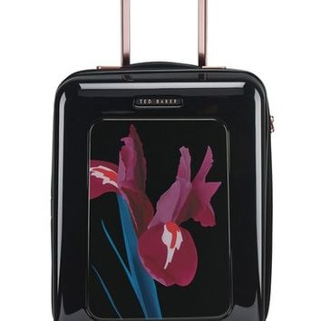 Ted Baker London 'Small Stencilled Stem' Four Wheel Suitcase (22 Inch) | Nordstrom
