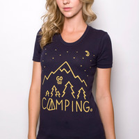 Go Camping T-shirt Navy