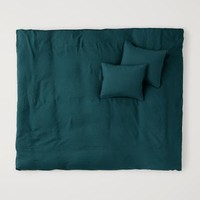 Washed Linen Duvet Cover Set - Teal - Home All | H&M US