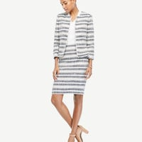 Stripe Tweed Fringe Pencil Skirt | Ann Taylor