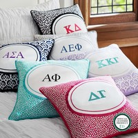 Greek Monogram Pillow Cover