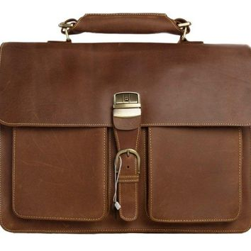 BLUESEBE MEN HANDMADE LEATHER SATCHEL/MESSENGER BAG 1031