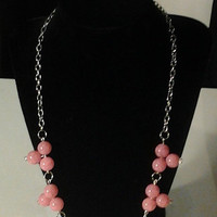 Cute Sassy Pink Statement Necklace
