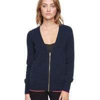 Zip Cardigan With Pop Color by Juicy Couture