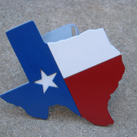 Texas Flag Double Layered Steel Trailer Hitch Cover