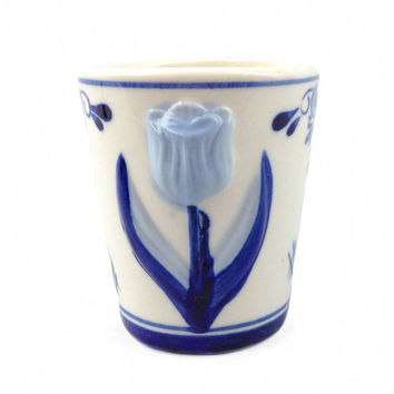 Ceramic Tulip Design Shot Glass