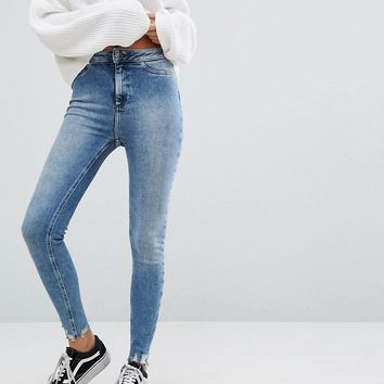 New Look Skinny Frayed Jeans at asos.com