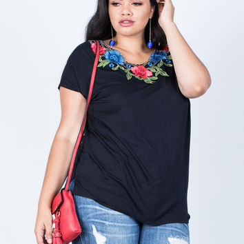 Plus Size Branch Out Floral Tee