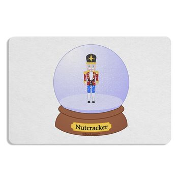 Nutcracker Snow Globe - Red Gold Black 12 x 18 Placemat by TooLoud