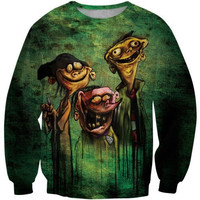 Latest fashion fads Lovers clothes print Funny zombie casual Sweatshirts long sleeved loose Sweatshirt casual hoodie G196 = 1920489476
