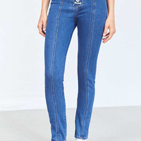 BDG Twig High-Rise Skinny Jean – Lace Up Indigo | Urban Outfitters