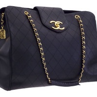CHANEL QUILTED OVERNIGHTER BAG