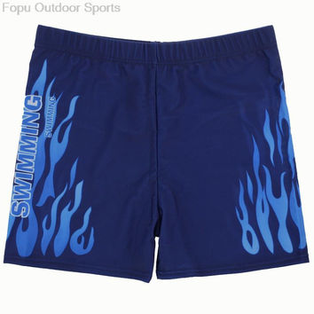 Plus Size Sexy Flame Men Male Swim Pool Beach Swimming Swimwear Boxer Trunks Shorts Pants Bathing Suit Briefs Swimsuit Underwear