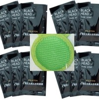 12 Nose Blackhead Removal Strips - Pore Masks-instructions and (1) Facial Colored Scrubber By Uplifting Therapies