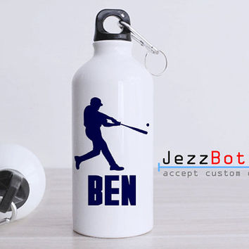 Personalized Beaseball Design - Bottle Sport - Custom Water Bottle -  Club Bottle Sport - Include Name