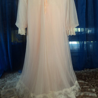 INTIME Vintage 60s AMAZING Peignoir Nightgown Set by calig0dess