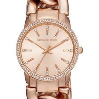 Michael Kors 'Lady Nini' Chain Link Bracelet Watch, 35mm | Nordstrom