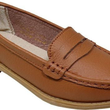 women's light brown penny loafer moccasins Case of 12
