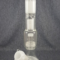 White Beaker with Showerhead Water Pipe