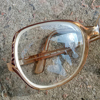 Vintage eye glasses, brown, vintage, frame, Accessories, Eyewear, glasses altered, geek, geek geekery, spooky, My wealth