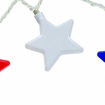Patriotic Star Party String Lights, 8-Feet