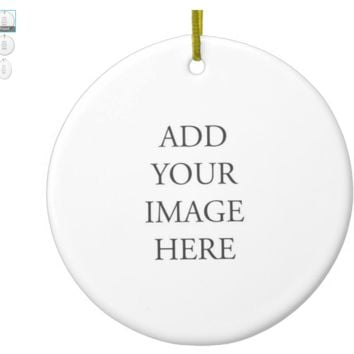 Customizable Ceramic Ornament - Add Image or Text for a Customized Look