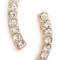 Women's Sole Society Crystal Crescent Ear Crawlers - Crystal