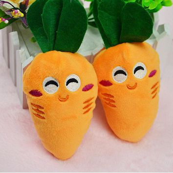 High quality Cat Toys Pet Puppy Chew Squeaker Squeaky Plush Sound Fruits Vegetables Toys