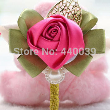 8 color Luxury Artificial Flower wedding accessories decoration bride Bridegroom corsage Silk flower,boutonnieres and corsages