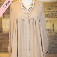 PLUS SIZE: First Date Top in Mocha - Entourage Clothing & Gifts