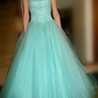 Dream princess ball gown Beadings prom dress/Graduation Dresses