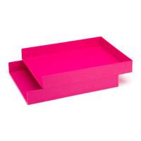 Pink Letter Trays | Desk Accessories | Poppin