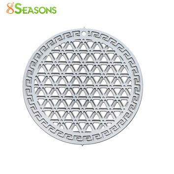 5 Piece Stainless Steel Flower Of Life Pendants