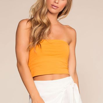 Alera Tube Crop Top - Honey