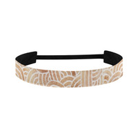 Brown and white swirls doodles Sports Headband | ID: D1807467