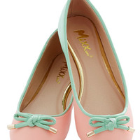 ModCloth Pastel Admire the Adorable Flat