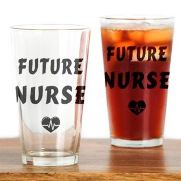 Future Nurse Drinking Glass> Future Nurse> Bonfire Designs